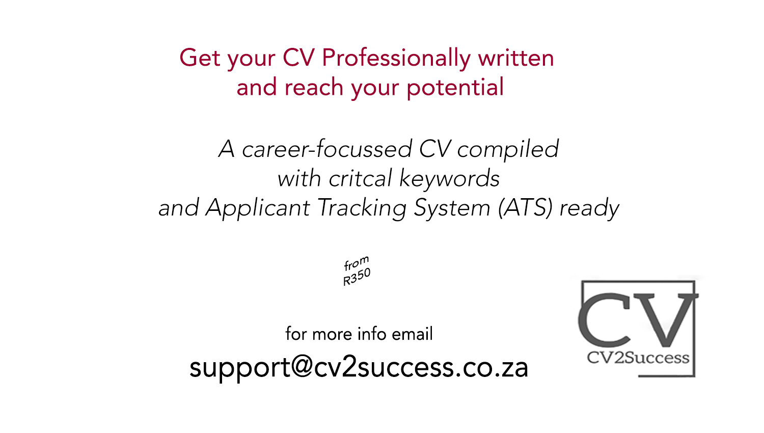 CV2Success big banner